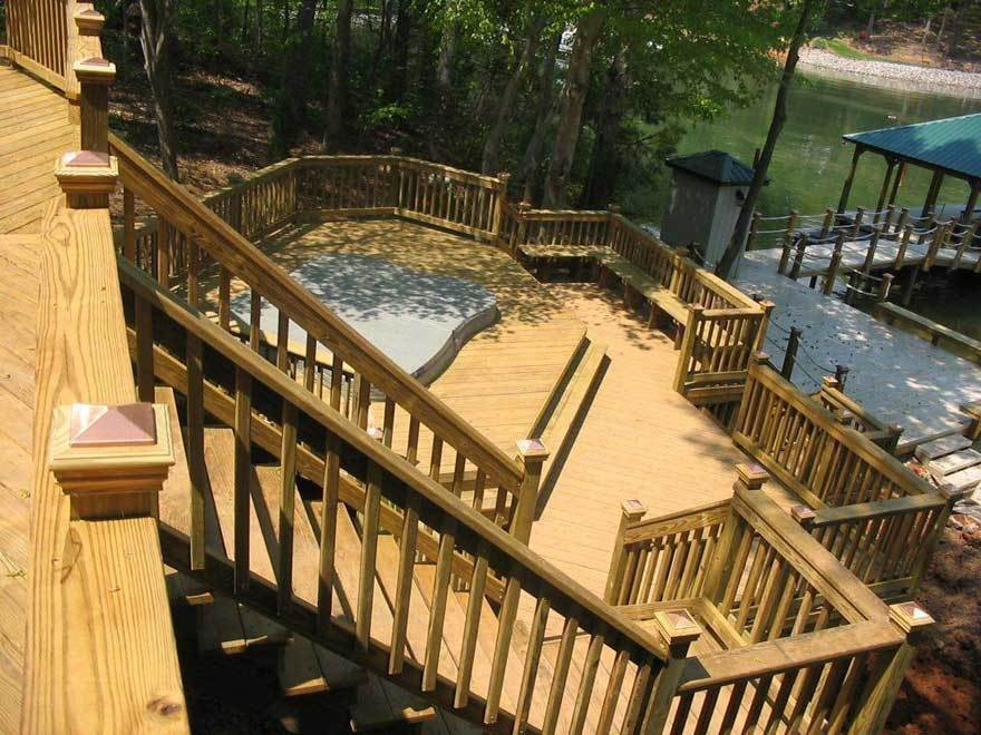 Archadeck Lake Wylie Multi Level Deck