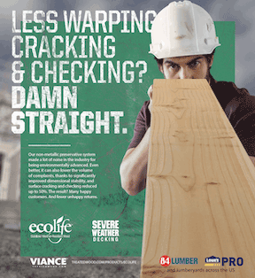 Ecolife Treated Wood ad