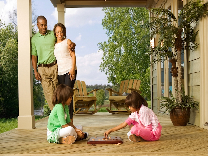 Porch Deck Girls With Checkers Landscape Low Res