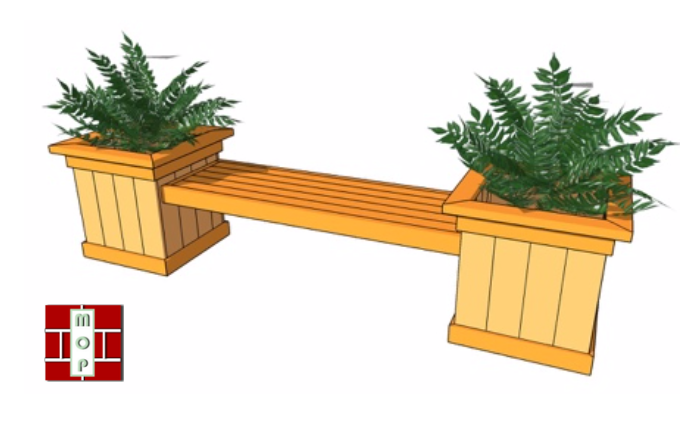 MOP Planter Bench