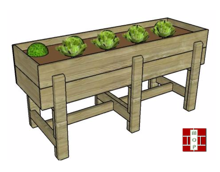 Httpsmyoutdoorplans complanterwaist high raised garden bed plans